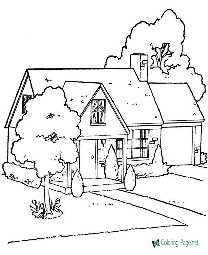 Brick House Coloring Pages