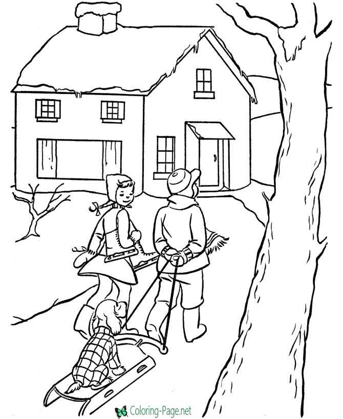 Boy and Girl Playing in a Tree House coloring page | Free ... | 820x670