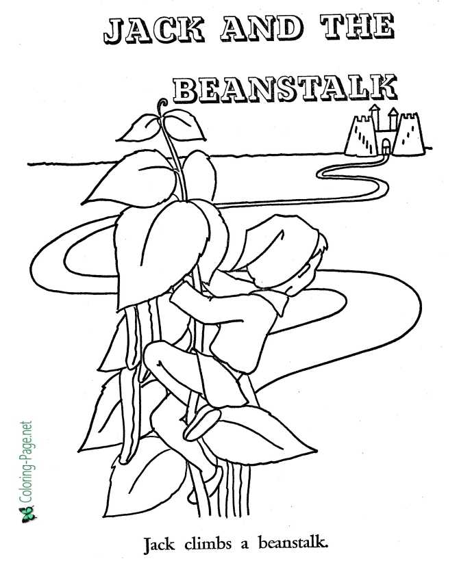 print Jack and the Beanstalk coloring page