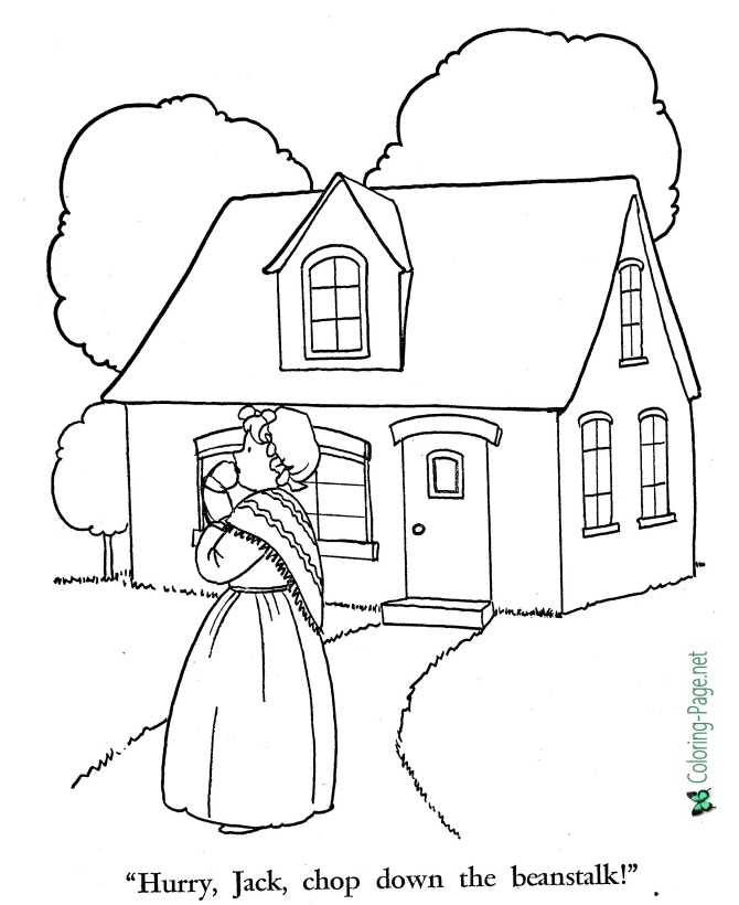 printable Jack and the Beanstalk coloring pages