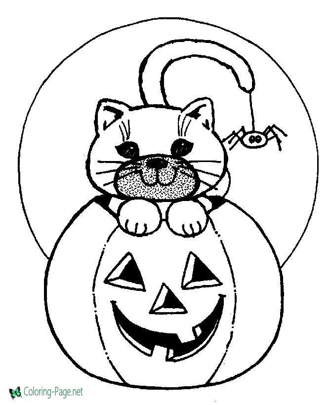 Jack O Lantern coloring pages