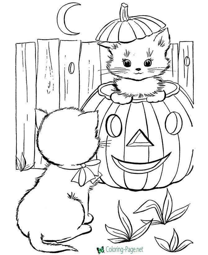 jack-o-lantern coloring pages