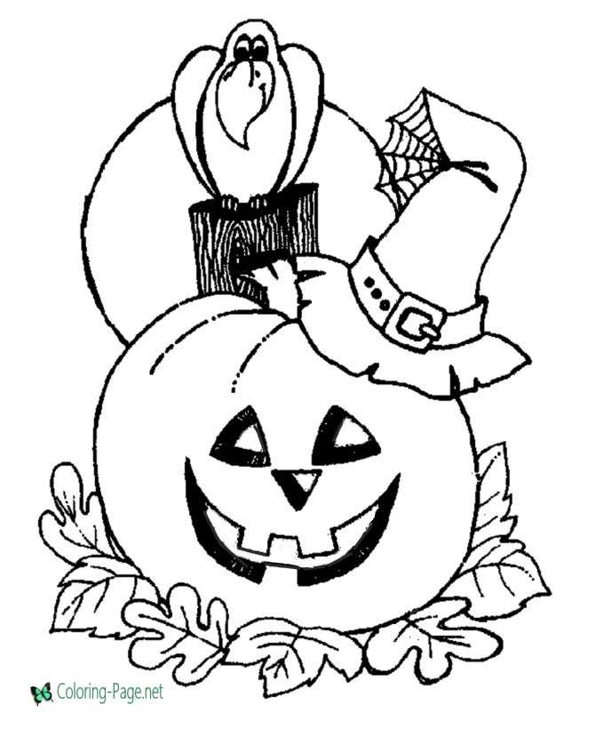24+ Pretty Picture of Jack O Lantern Coloring Page (With images ... | 820x670