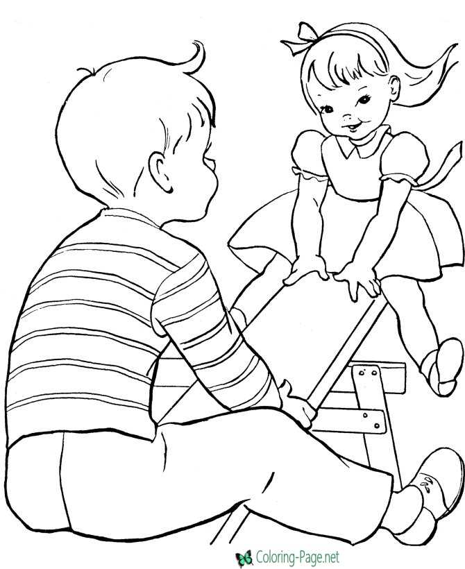 - Kids Coloring Pages