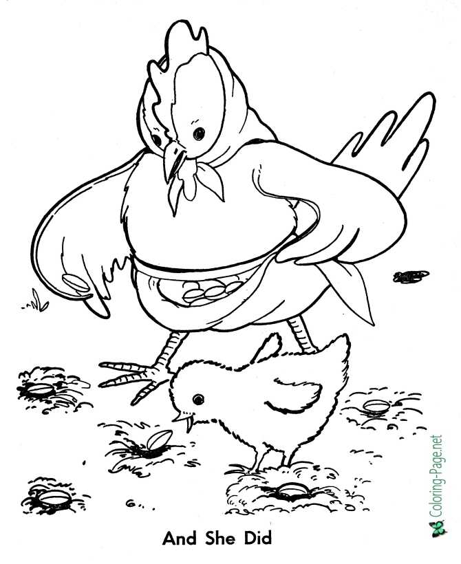 The Little Red Hen Coloring Sheets (teacher made) | 820x670