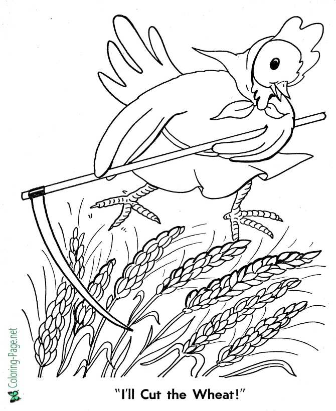 Fairy Tales - Little Red Hen Coloring Pages
