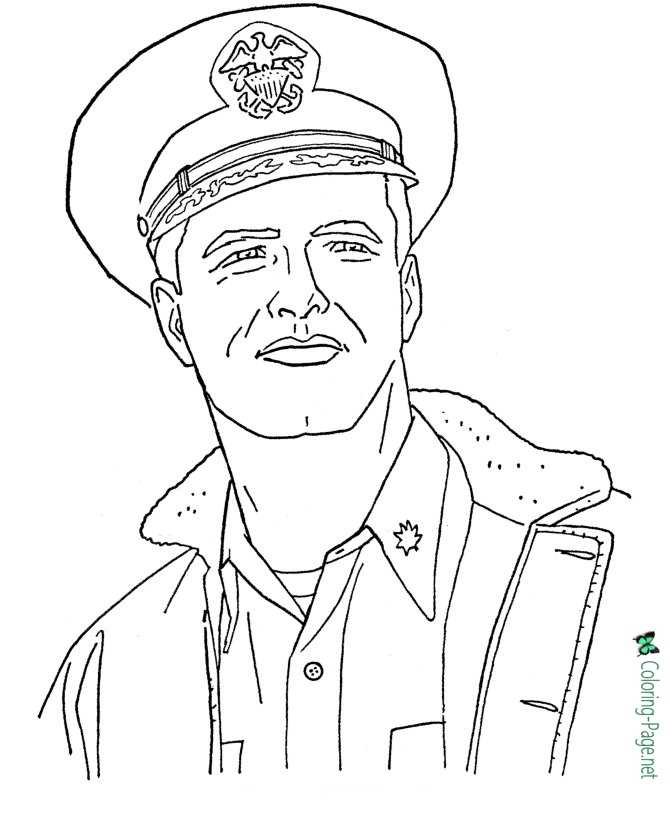 printable Memorial Day coloring page