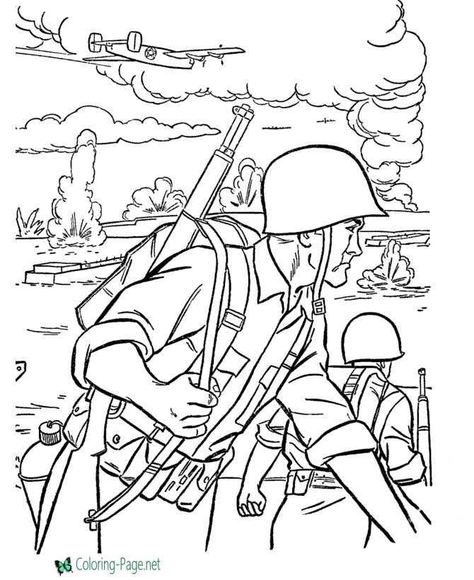 Military Coloring Pages Ww2