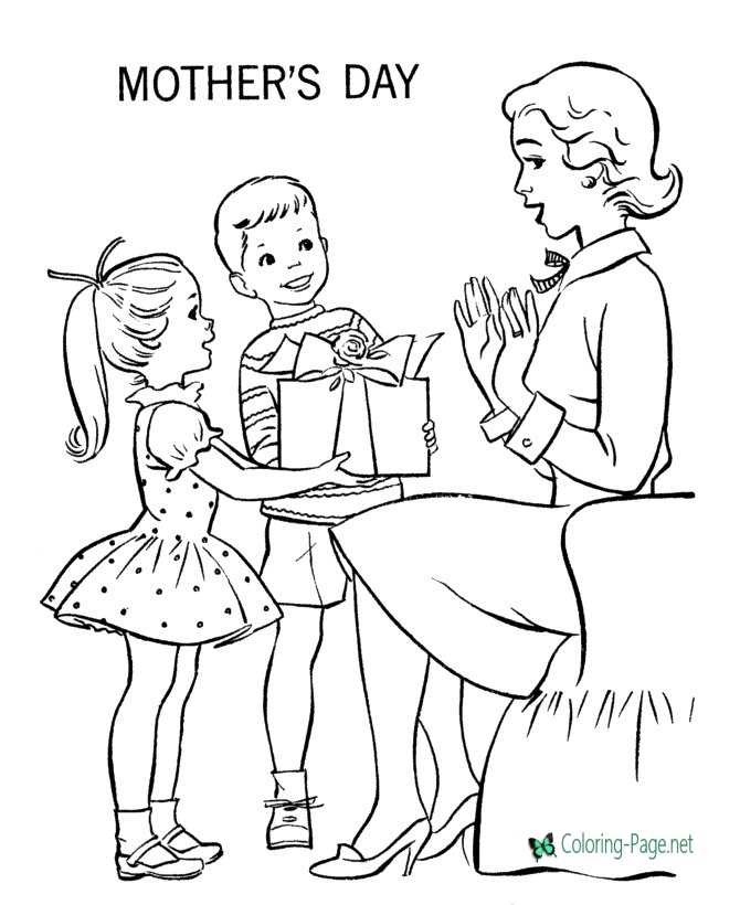 Mother´s Day coloring page to print