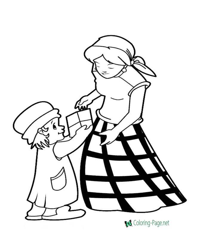 Printable Mom coloring page