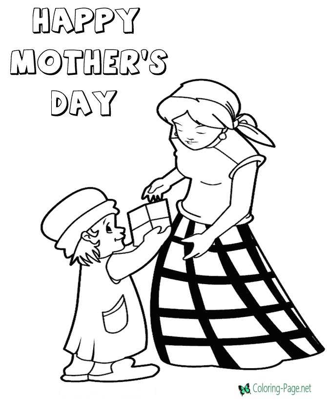 Mother´s Day Coloring Pages Happy Mothers Day