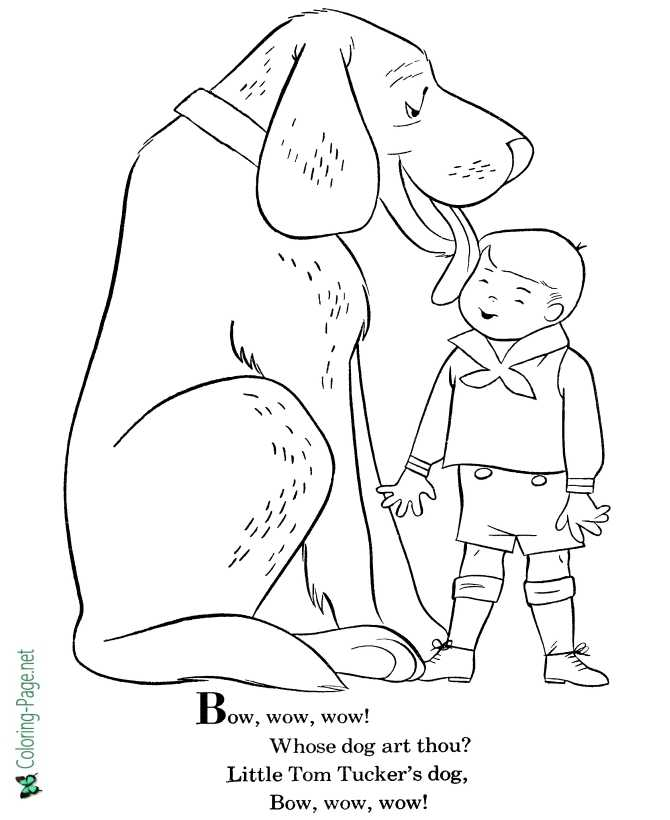print nursery rhyme coloring page