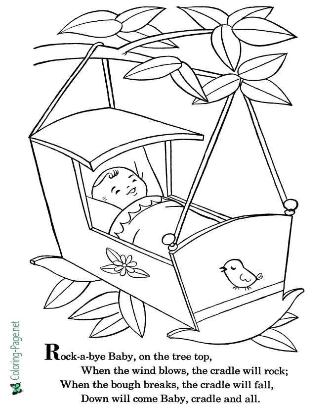 nursery rhyme coloring page for children