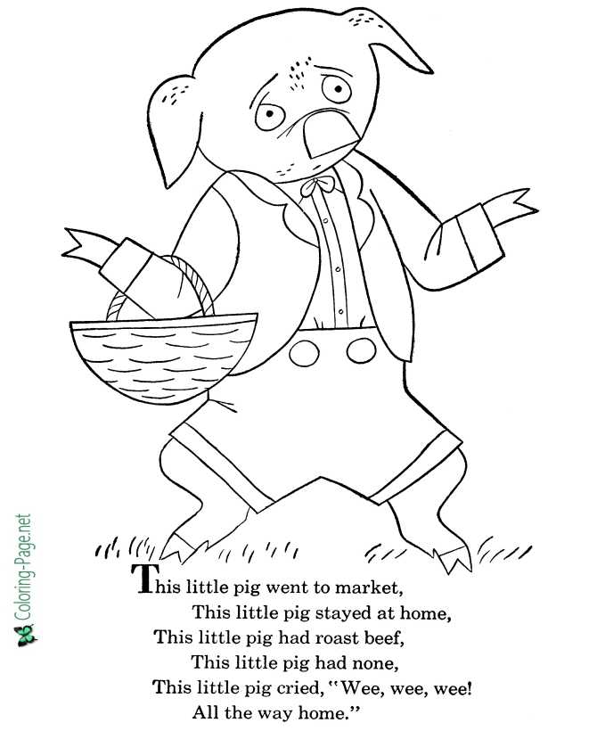 printable nursery rhyme coloring pages