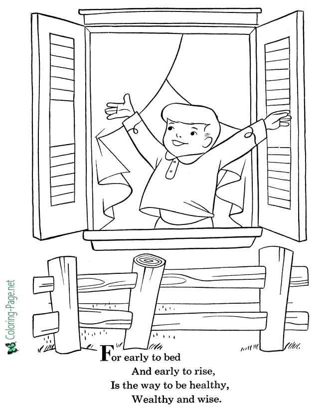 nursery rhyme coloring page