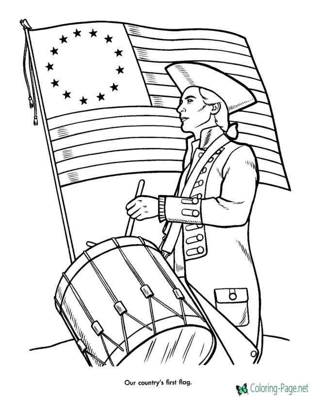 photo regarding Patriotic Printable Coloring Pages named Patriotic Coloring Web pages