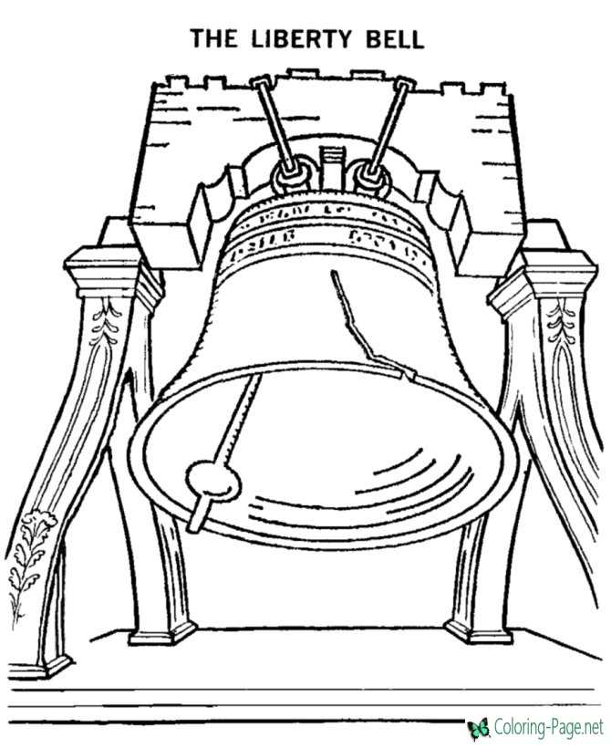Patriotic Coloring Pages Liberty Bell to Print Color