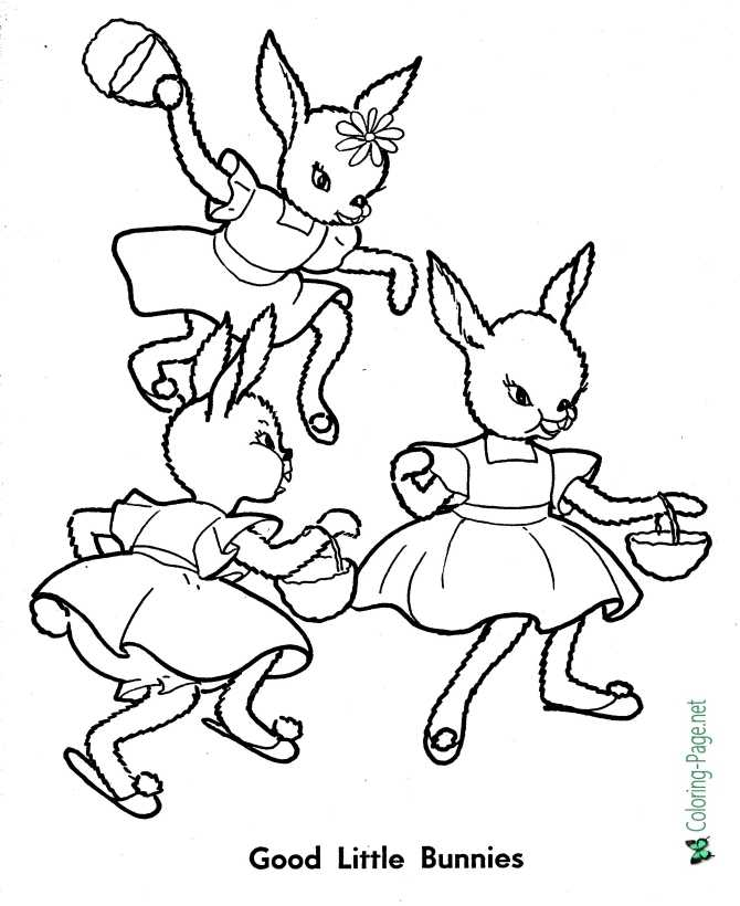 Good Little Bunnies - Peter Rabbit coloring page
