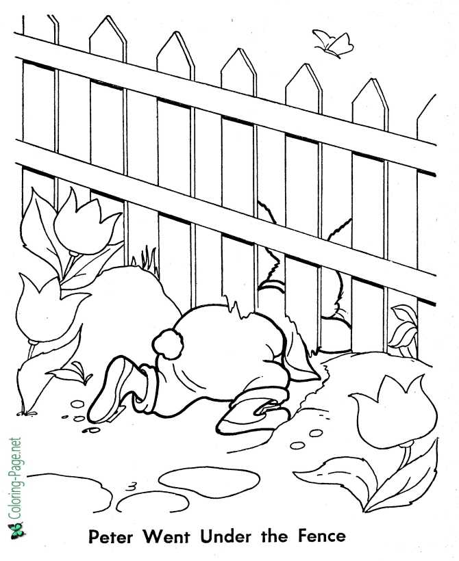 printable peter rabbit coloring page