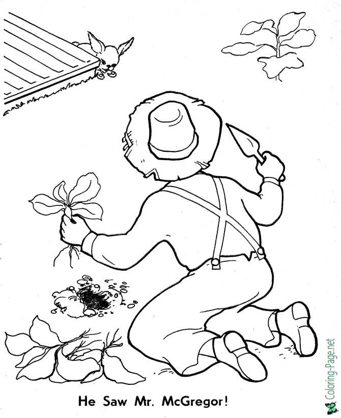 printable peter rabbit coloring pages