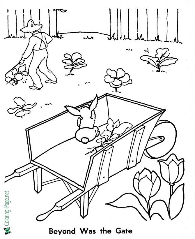 printable Peter Rabbit coloring page - The Gate Beyond