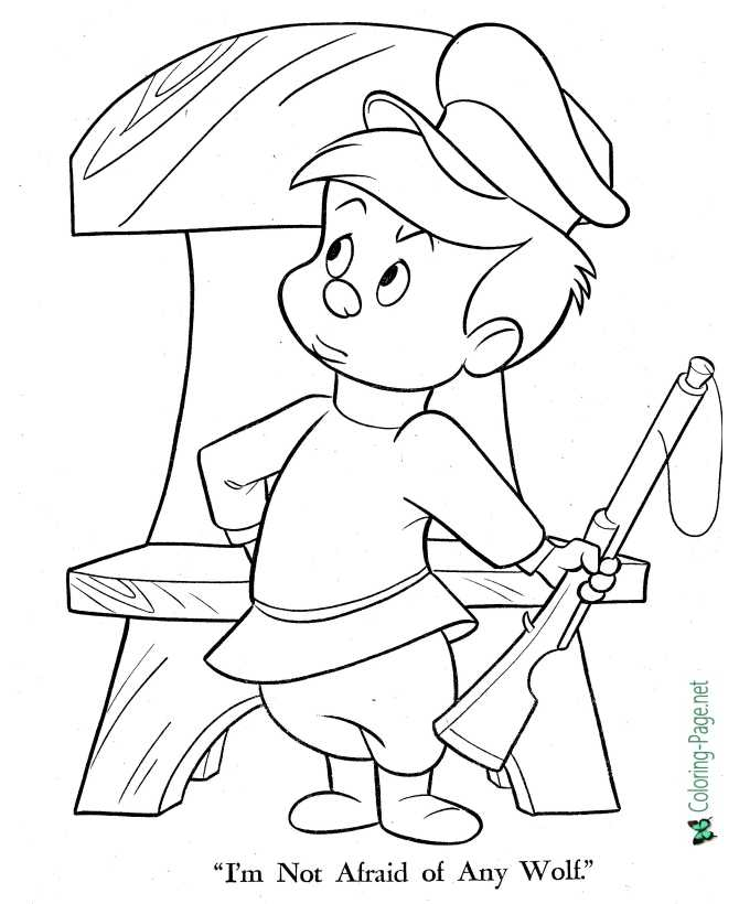Peter and the Wolf coloring page