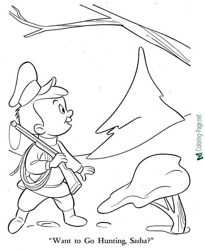 Peter and the Wolf coloring page for children