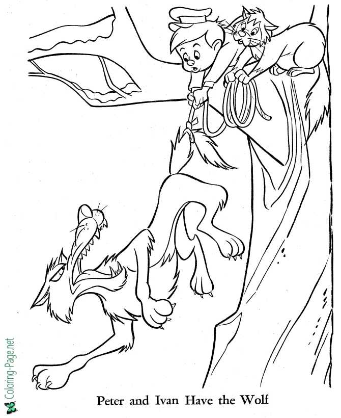 - Peter And The Wolf Coloring Pages - Fairy Tale