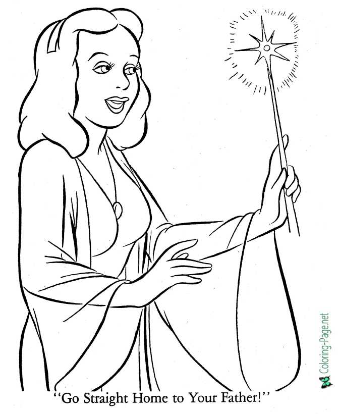 printable pinocchio coloring page