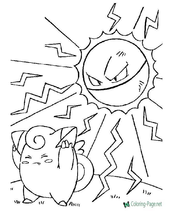 pokemon coloring page for children
