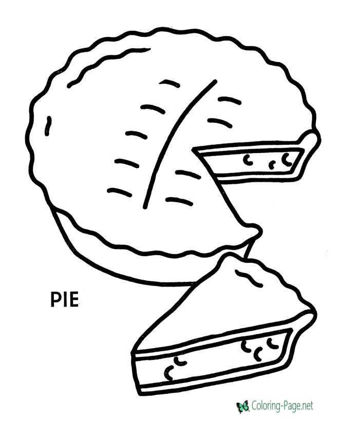 Preschool Coloring Pages Apple Pie