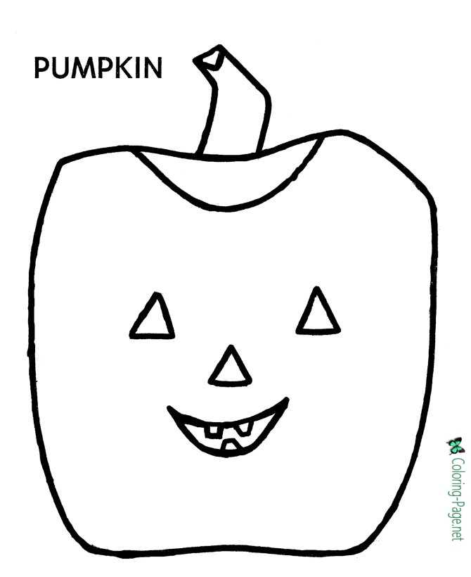 Preschool Coloring Pages Jack O Lantern
