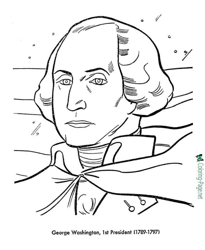 Us Presidents Coloring Pages George Washington