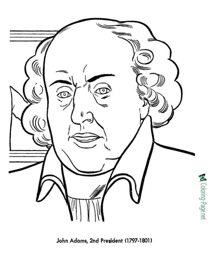 US Presidents Coloring Pages John Adams