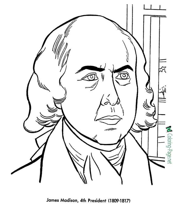 US Presidents Coloring Pages James