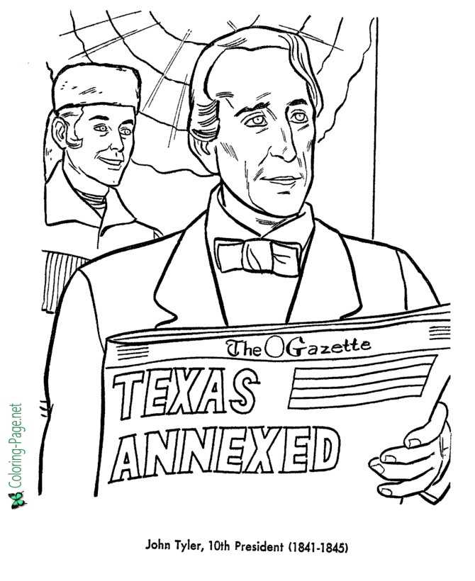 USA-Printables: US Presidents Coloring Pages - President John F ... | 820x670