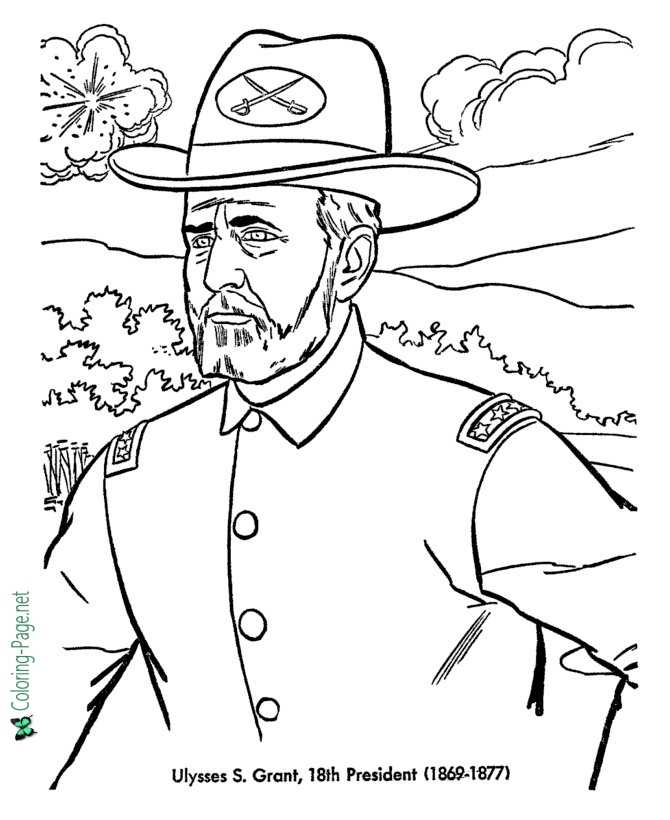 ulysses s grant coloring pages