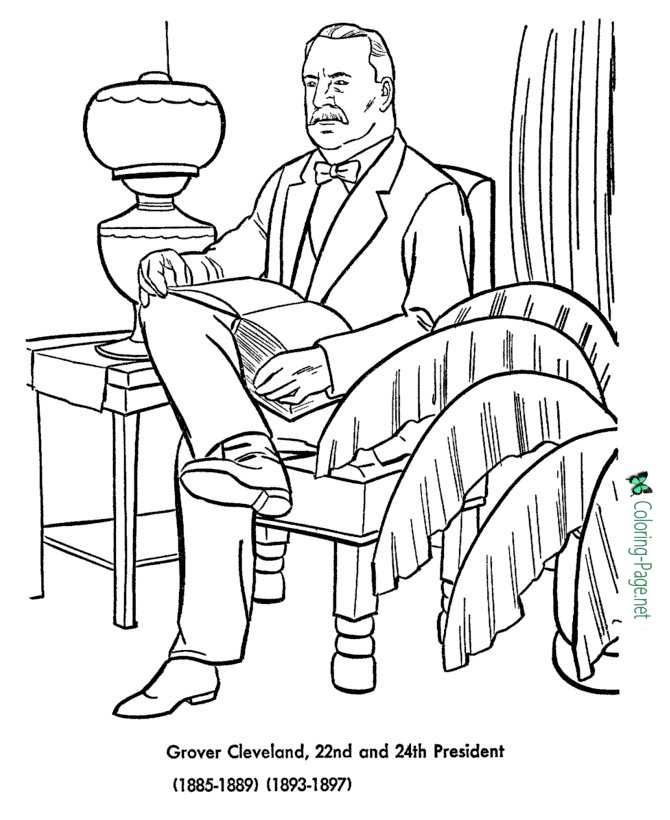 US Presidents Coloring Pages Grover Cleveland 2nd Term