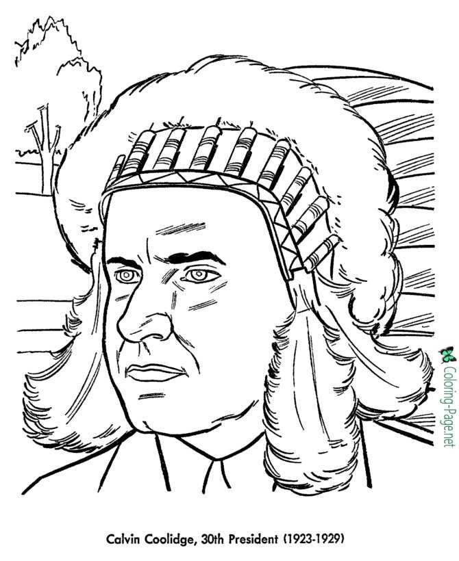 calvin coolidge coloring pages
