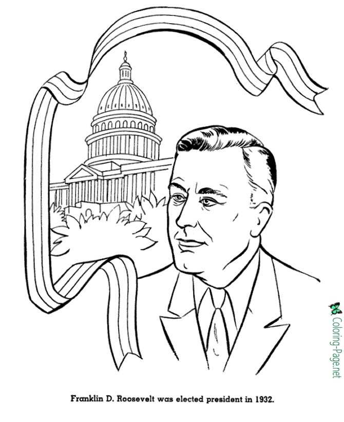 franklin d roosevelt coloring pages