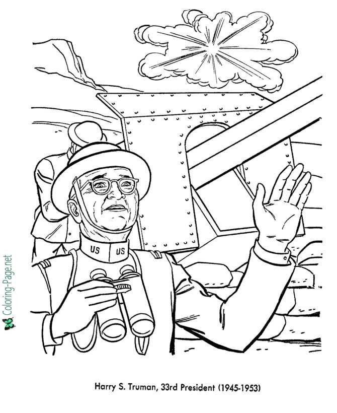 harry s truman coloring pages