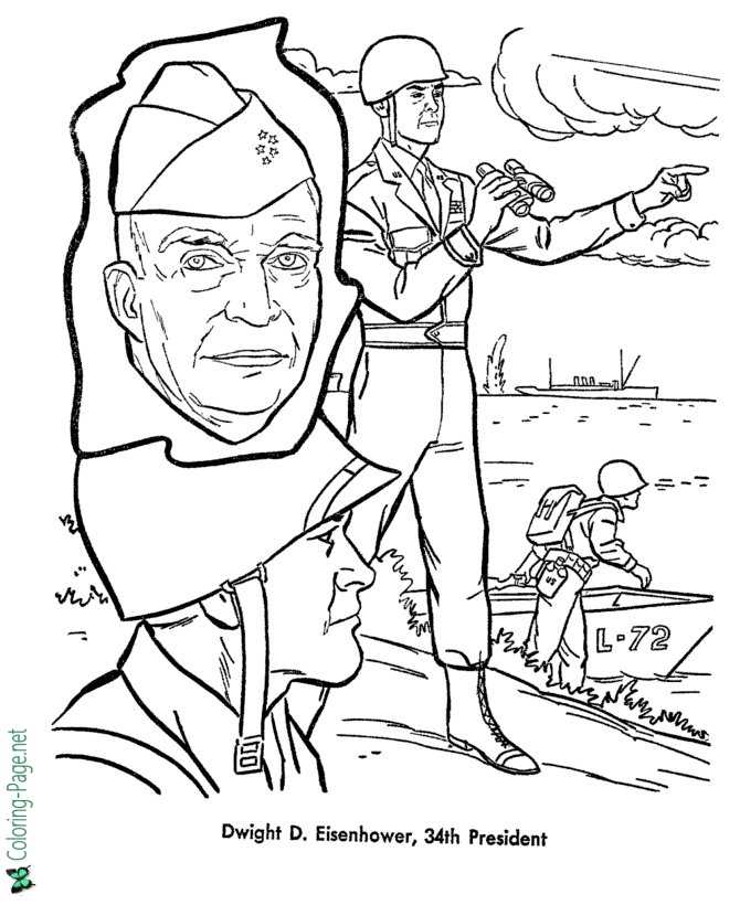 dwight eisenhower coloring pages