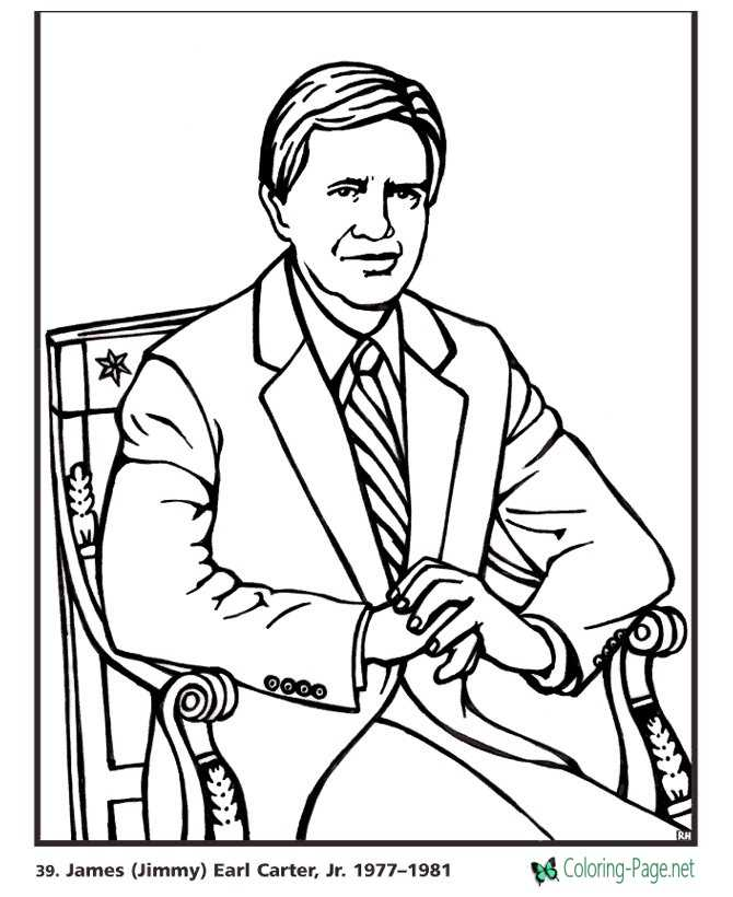jimmy carter coloring pages