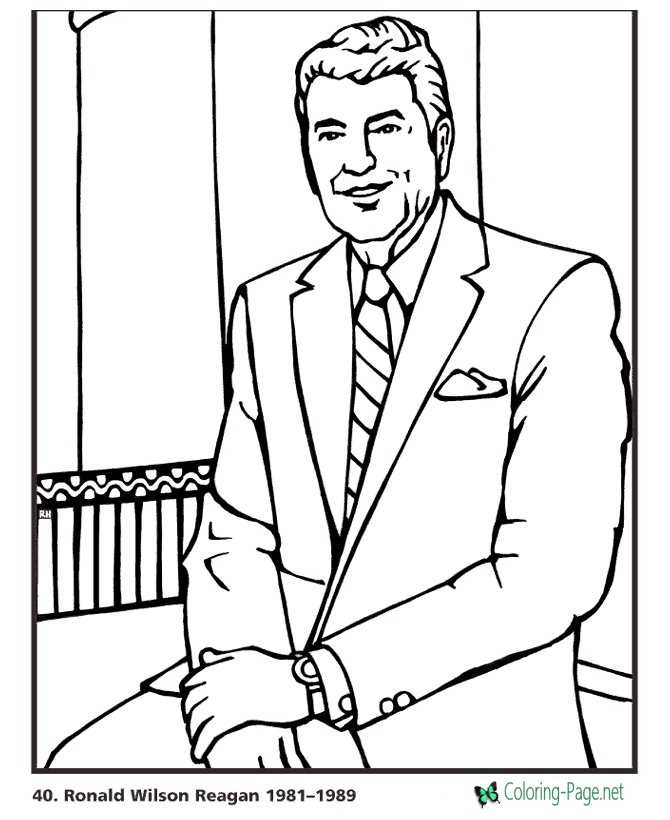 ronald reagan coloring pages