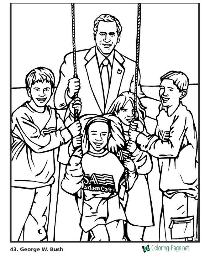 george w bush coloring pages