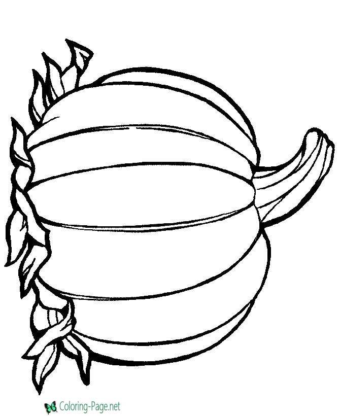 Preschool Pumpkin Coloring Pages To Print