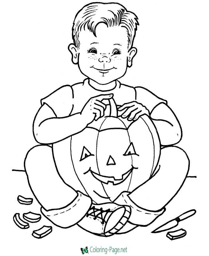 Pumpkin Coloring Pages Carving Pumpkins