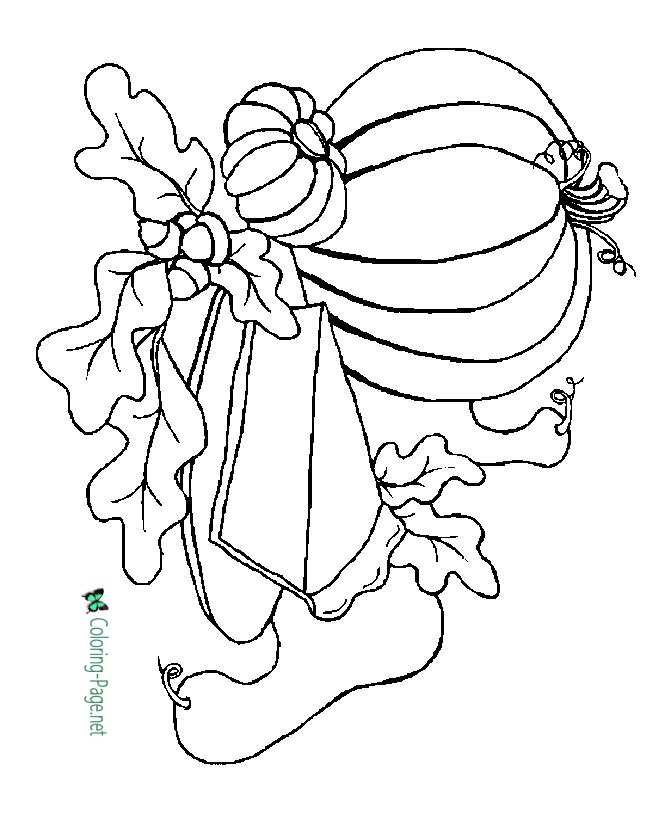 Pumpkin Coloring Pages Thanksgiving