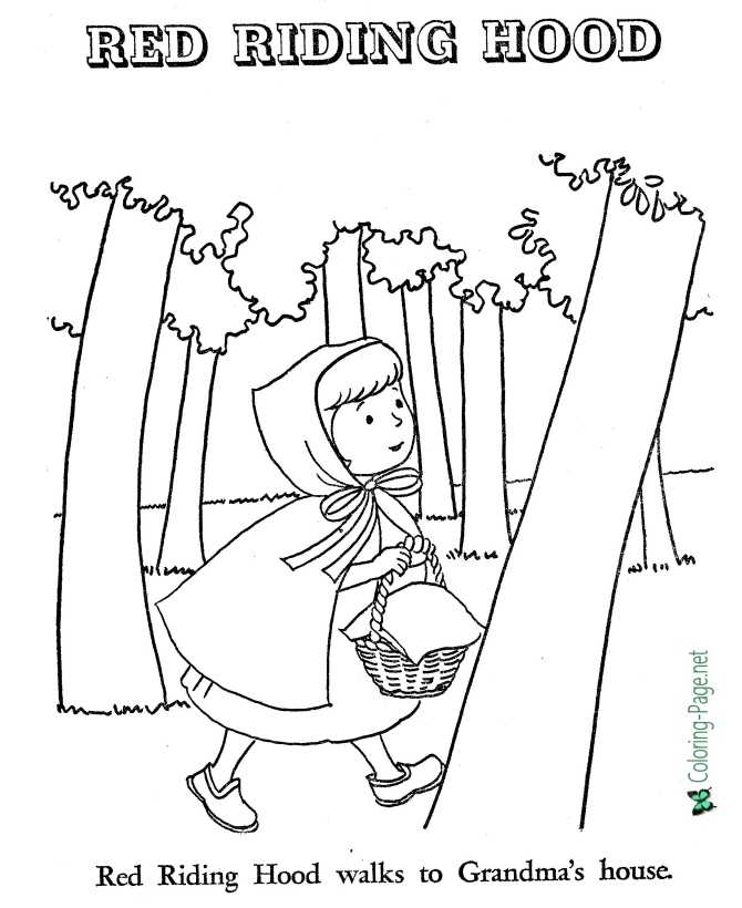print Little Red Riding Hood coloring page