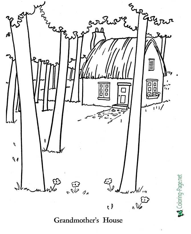 Little Red Riding Hood coloring page of world